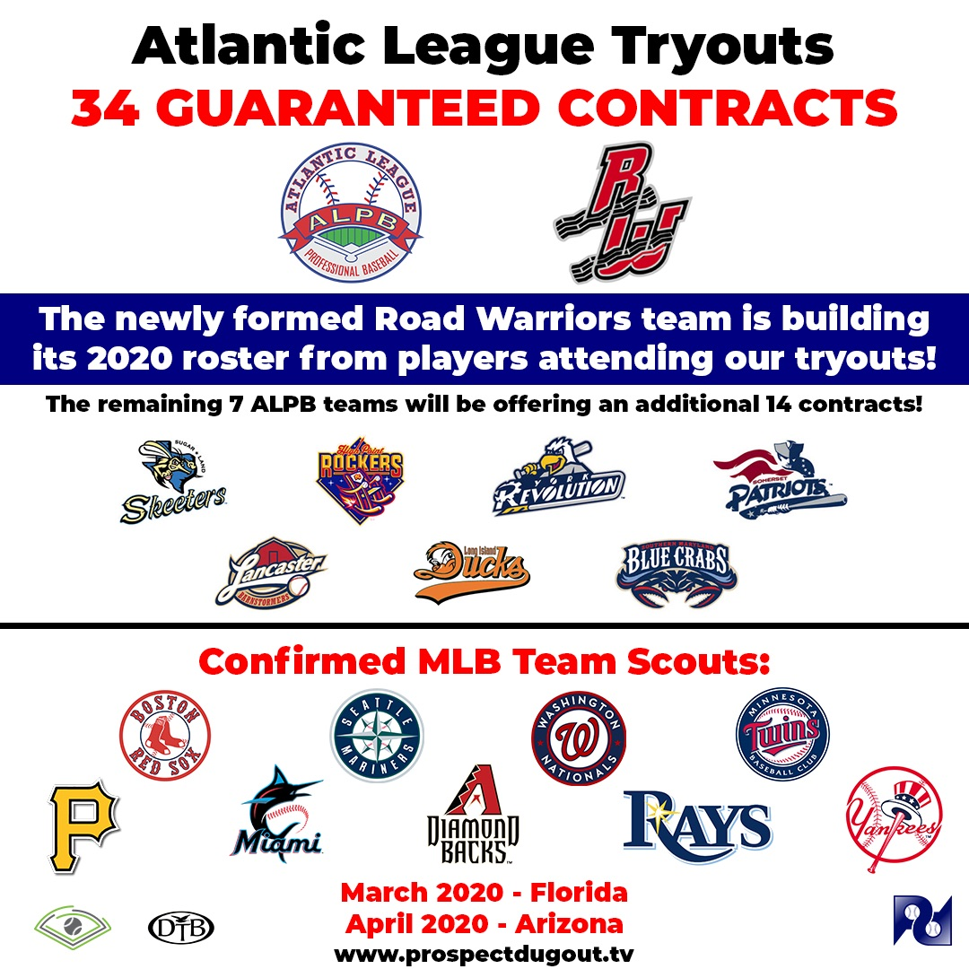 Go Pro with Tryouts for Atlantic League Teams!