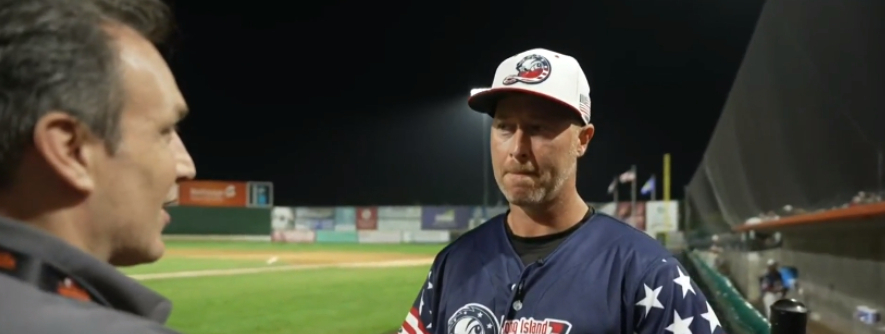 Steve Overmyer, CBS New York: Long Island Ducks Player-Coach Lew Ford Shares his Gameday Experience