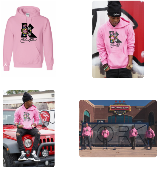 Revs Present Kwame Katana Breast Cancer Awareness Hoodie